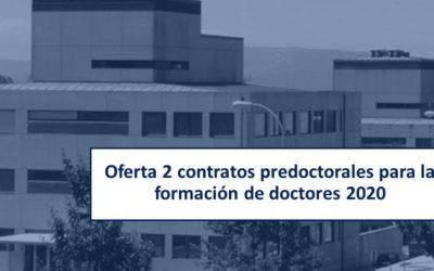 CRETUS ofrece 2 contratos predoctorales para la formación de doctores 2020