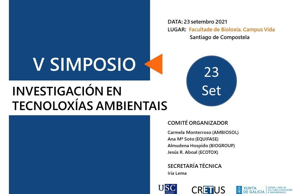El 23 de septiembre se celebrará la V edición del Simposio de Investigación en Tecnologías Ambientales